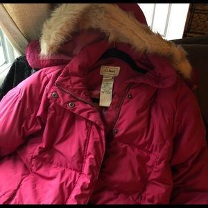LL Bean Down Coat Woman's Size XS